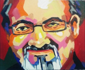 Portrait of Rushdie by Suman Mukherjee